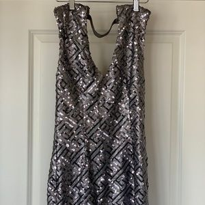 Dresses & Skirts - Silver Sequin Party Dress